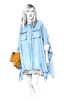 Fashion illustration. Sketches.