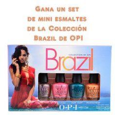 Gana un set de mini #esmaltes de la Colección Brazil de OPI ^_^ http://www.pintalabios.info/es/sorteos_de_moda/view/es/3443 #Internacional #Sorteo #Unas