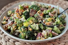 The Best Broccoli Salad  Yield: Serves 6-8  Ingredients      Dressing:     3/4 cup light or regular mayonnaise     1/4 cup granulated sugar     1 tablespoon balsamic vinegar     Salad:     1 1/2 pounds fresh broccoli, chopped into small bite-sized pieces     1 cup golden raisins (optional)     3/4 cup sunflower seeds     1 small shallot or red onion, finely diced (about 1/4 cup)     1 cup shredded sharp cheddar cheese     6 slices bacon, cooked and crumbled