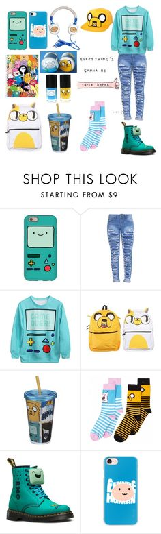 """""""Adventure Time 💫"""" by fairlylocalalien ❤ liked on Polyvore featuring CO, Mapalé, Dr. Martens and Casetify"""
