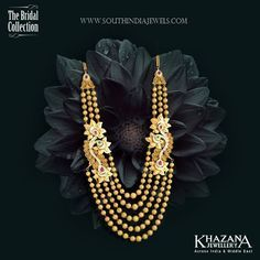 Gold Haram Designs in Khazana Jewellery, Latest Gold Haram Collections from Khazana.