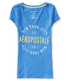 NYC Circle V-Neck Graphic T - Aeropostale