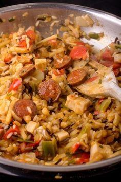 #recette du Jambalaya de poulet au chorizo !