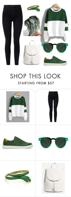 """""""Last minute Slytherin"""" by cami-sergianni on Polyvore featuring J Brand, Fendi, Spitfire and Everlane"""