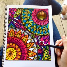 Unwind after a busy week. Adult coloring book