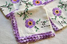 Vintage Tablecloth  Embroidered Tablecloth and by pumpkintruck, $35.00