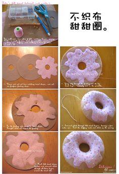 DIY felt donut instructions
