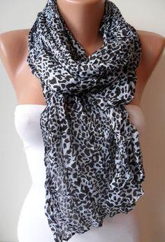 Leopard Scarf for Summer by SwedishShop on Etsy, $12.90
