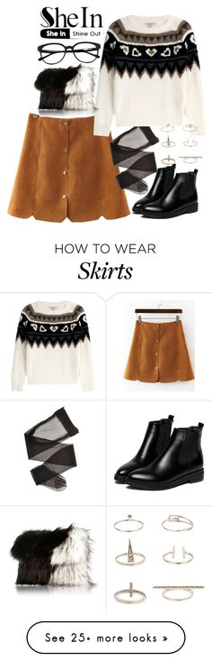 """Shein: yellow slim skirt"" by stasbb on Polyvore featuring Burberry, River Island and Topshop"