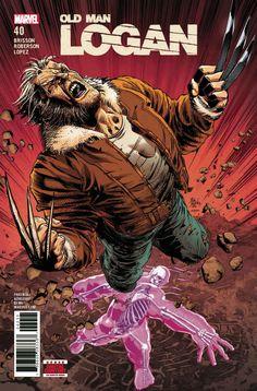 COMIC BOOK: Old Man Logan # 40 (Vol II). PUBLISHER: Marvel Comics. WRITER(S) Ed Brisson. ARTIST: Ibraim Roberson. COVER ARTIST: Mike Deodato Jr. ORIGINAL RELEASE DATE: 5 / 23 / 2018. COVER PRICE: $3.99. RATING: Parental Advisory.