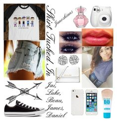 """""""Janoskians Concert!!!!"""" by cookiesforliam ❤ liked on Polyvore featuring mode, Maybelline, Converse en MICHAEL Michael Kors"""