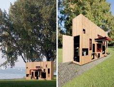 Part cabin, part garden shed, Walden is a prefab living station for outdoor and garden enthusiasts, with tons of hidden surprises tucked away into secret compartments and it's skinny facade.