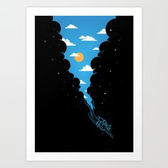Skydiver Art Print by Enkel Dika | Society6