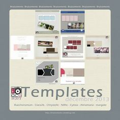 Scrapbooking Blog Train - January 2014, Au Coin de L'Objectif. Lots of great facebook timeline template freebies!