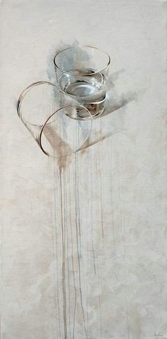 Glass cup still life - Nono García, pintura, Murcia Still Life Art, Painting Inspiration, Painting & Drawing, Water Drawing, Drawing Drawing, Body Painting, Amazing Art, Awesome, Watercolor Art