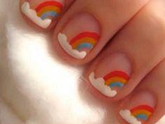little rainbow nails!!