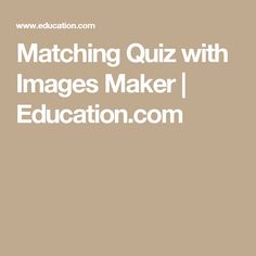 matching quiz generator