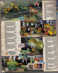Teenage Mutant Hero Turtles 1991 Argos Catalogue