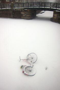Frozen Canal - Amsterdam by Ricardo Ribeiro, via 500px