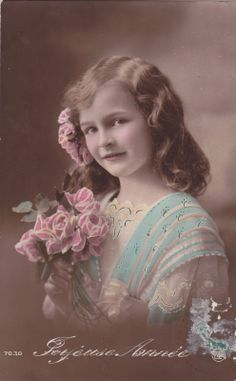 Pretty Edwardian Girl with Pink Roses Original French Postcard | eBay Regalos Originales Mujeres
