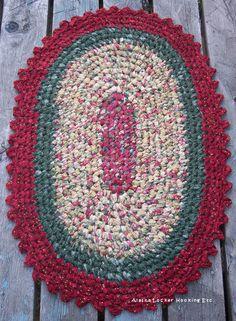 Crochet Oval Rag Rugs ePattern-PDF