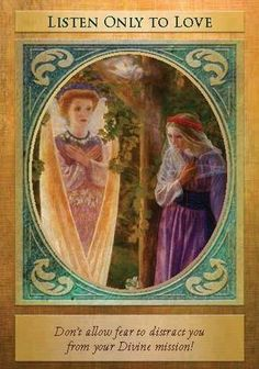 Oracle Card Listen Only To Love | Doreen Virtue | official Angel Therapy Web site