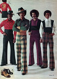 These were a number of the crucial trends clothes for ladies. In contrast to popular fashion wasn't all about massive hair and polka dots. Disco clothes always need to be in loud colours. 1970s Fashion Men, Retro Fashion, Vintage Fashion, 70s Disco Fashion, 70s Black Fashion, American Fashion, Mode Masculine, Punk Outfits, Fashion Outfits