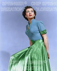 5 DAYS! 8X10 GAIL RUSSELL WEARING GREEN STAR DRESS COLOR PHOTO BY CHIP SPRINGER. Please visit my Ebay Store at http://stores.ebay.com/x5dr/_i.html?rt=nc&LH_BIN=1 to see the current listings of your favorite Stars now in glorious color! Message me if you would like me to relist your favorites.