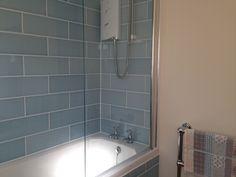 Attingham powder blue tiles - aren't they lovely! Seaside Bathroom, Modern Bathroom, Bathroom Ideas, Bathtub Tile, Blue Tiles, Sink, Shower, Seashells, Bathrooms