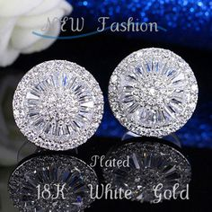 High quality jewelry, brand design, luxury sparkling LADIES EARRINGS, stylish and beautiful. Starting at $1