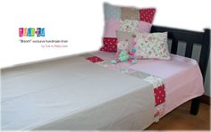 """Vintage-feel bed linen for single & 3/4 beds from our """"Bloom"""" range. Manufactured by Tula-tu Baby Linen (RSA) - find and like us on Facebook"""