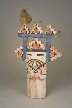 Katsina (Shalako Mana)  Date:     ca. 1885 Geography:     United States, Arizona Culture:     Hopi Medium:     Wood, paint