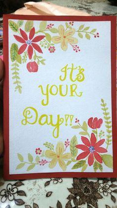 Floral print card