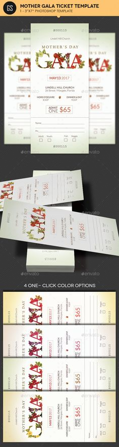 Church Anniversary Banquet Ticket Template Ticket template - event tickets template