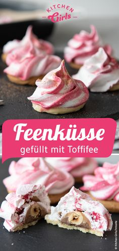 Recipe: Make fairy kisses with Toffifee yourself # Cookies . - Rezept: Feenküsse mit Toffifee selber machen … Recipe: Make fairy kisses with Toffifee yourself # Cookies Baked Donut Recipes, Baking Recipes, Cookie Recipes, Biscuits Au Four, Cookies Et Biscuits, Baking Biscuits, Food Cakes, Chocolate Donuts, Chocolate Recipes