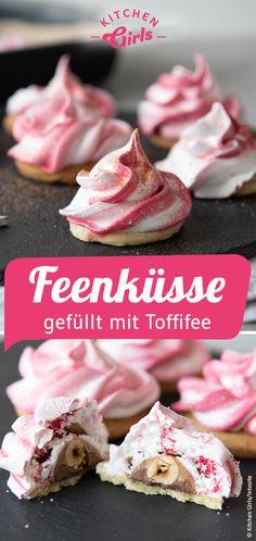 Rezept: Feenküsse mit Toffifee selber machen #weihnachten #christmas #plätzchen #backen #kekse #diekitchengirls #rezepte