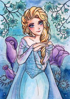 Elsa Frozen by Khateerah.deviantart.com on @DeviantArt
