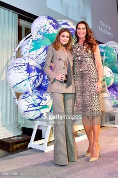 Olivia Palermo and Brooke Shields attend the Fragrance Foundation Finalists' Luncheon at 583 Park Avenue on April 7 2017 in New York City