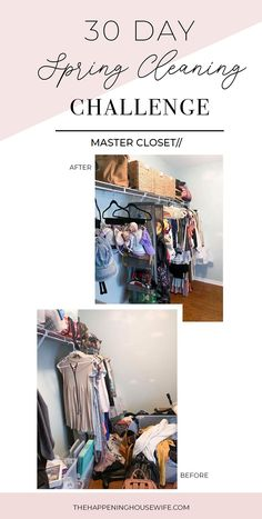 DAY 1 Spring Cleaning Challenge! Closet Organization!