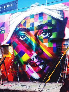 Tupac mural by Kobra, #Wynwood, Miami Art Basel 2013, found across the street from Wood Tavern