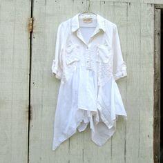 small  medium   Upcycled clothing / Patchwork Dress / by CreoleSha, $92.99
