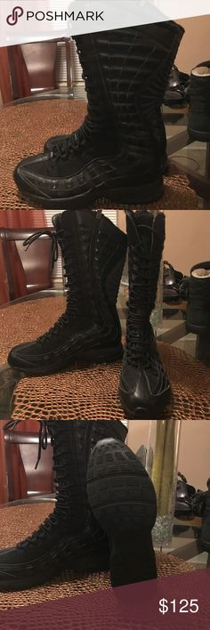 Nike Airmax boots Black Airmax Nikes great condition Nike Shoes Winter & Rain Boots