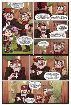 Gravity Falls Theory, Gravity Falls Funny, Gravity Falls Comics, Monster Falls, Dark Artwork, Adventure Time Finn, Disney Crossovers, Twin Falls, Cartoon Network Adventure Time