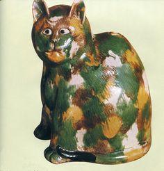 Figurine de chat - Chine, époque K'ang-hi
