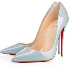 Christian Louboutin So Kate (15,740 HNL) ❤ liked on Polyvore featuring shoes, pumps, heels, christian louboutin, louboutin, horizon, christian louboutin shoes, patent leather pumps, blue high heel pumps and heels stilettos