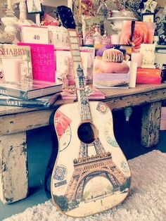 Design chambre +guitarre girly