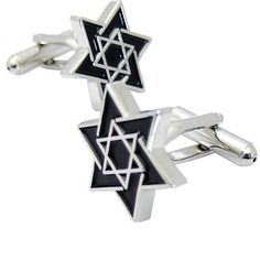 Black and Silver Magen David Star Cuff links Star of David Cufflinks Fantasyard. $19.99. Exquisitely detailed designer style. Other color available. Gift box available for an additional fee. Please check out through gift-wrap option