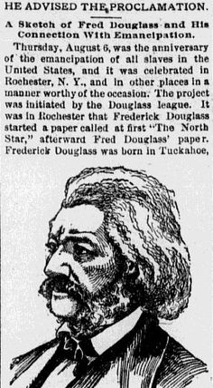 "A newspaper article about the life of abolitionist Frederick Douglass, published in the Omaha World Herald (Omaha, Nebraska), 7 August 1891. Read more on the GenealogyBank blog: ""Frederick Augustus Washington Bailey, aka Frederick Douglass."" http://blog.genealogybank.com/frederick-augustus-washington-bailey-aka-frederick-douglass.html"
