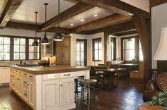 Rustic Lakehouse - kitchen - other metro - Wright Design