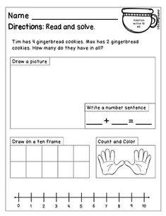 GINGERBREAD Math & Literacy Activities Math Literacy, Literacy Activities, Maths, Math Education, Math Fractions, Multiplication, Math Games, Kindergarten Worksheets, Daily 5 Math